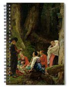 The Pilgrims From The Abbey Of St. Odile Oil On Canvas Spiral Notebook
