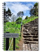The Pilgrims' Steps Spiral Notebook