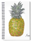 The Pineapple On White Spiral Notebook