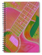 My Pink Guitar Pop Art Spiral Notebook