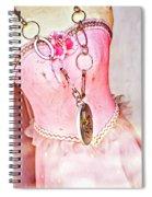 The Pink Tutu Dress With The Fleur De Lis Spiral Notebook