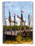 The Pinta At Sunrise Spiral Notebook