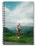 The Piper At The Great Glen Spiral Notebook