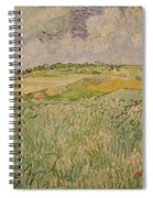 The Plain At Auvers Spiral Notebook