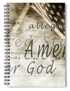 The Pledge Of Allegiance And An Spiral Notebook