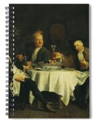 The Poet Alexis Piron 1689-1773 At The Table With His Friends, Jean Joseph Vade 1720-57 And Charles Spiral Notebook