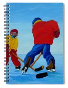 The Pond Hockey Game Spiral Notebook