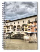 The Ponte Vecchio In Florence Spiral Notebook