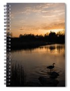 The Posing Goose Spiral Notebook