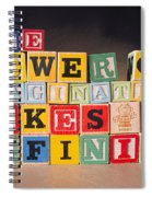 The Power Of Imagination Makes Us Infinite Spiral Notebook