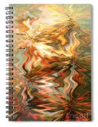 Gray And Orange Peaceful Abstract Art Spiral Notebook
