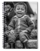 The Power Of Smiles Bw Spiral Notebook