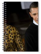 The President And First Lady Spiral Notebook