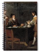 The Prodigal Son Receiving His Portion Of The Inheritance Spiral Notebook