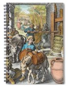 The Production Of Olive Oil, Plate 13 Spiral Notebook