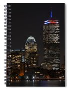 The Prudential Lit Up In Red White And Blue Spiral Notebook