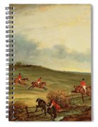The Quorn In Full Cry Near Tiptoe Hill Spiral Notebook