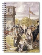 The Races At Longchamp In 1874 Spiral Notebook