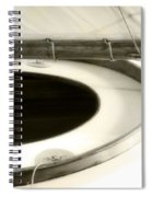 The Racing Sloop  Water Witch  Spiral Notebook
