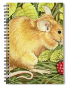 The Raspberry Mouse Spiral Notebook