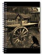The Raven Flies Straight Spiral Notebook