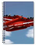 The Red Arrows Synchro Pair Spiral Notebook