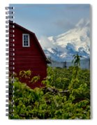 The Red Barn And Mt. Hood Spiral Notebook