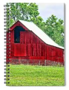 The Red Barn - Featured In Old Buildings And Ruins Group Spiral Notebook