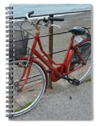 The Red Bicycle Spiral Notebook