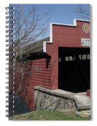 The Red Bridge Or Wertz's Cover Bridge Spiral Notebook