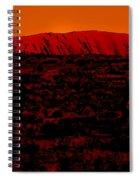 The Red Center D Spiral Notebook