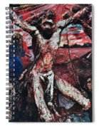 The Red Christ Spiral Notebook