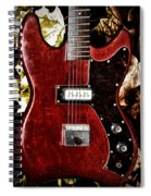The Red Guitar Blues Spiral Notebook