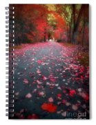 The Red Leaf Spiral Notebook