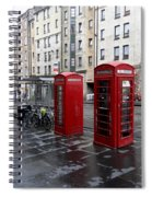 The Red Phone Booth Spiral Notebook