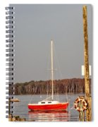 The Red Sailboat Spiral Notebook