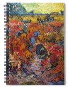 The Red Vineyard Spiral Notebook