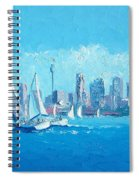 The Regatta Sydney Habour By Jan Matson Spiral Notebook
