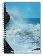 The Restless Sea Digital Art Spiral Notebook