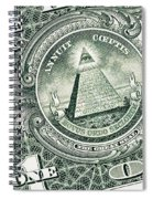 The Reverse Of The Great Seal Spiral Notebook