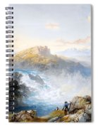 The Rhine Falls At Schaffhausen Spiral Notebook