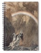 The Rhine S Fair Children Bewailing Their Lost Gold Weep Spiral Notebook