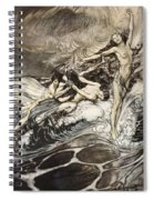 The Rhinemaidens Obtain Possession Of The Ring And Bear It Off In Triumph Spiral Notebook