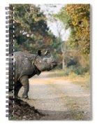 The Rhino At Kaziranga Spiral Notebook