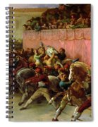 The Riderless Racers At Rome Spiral Notebook