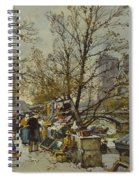 The Rive Gauche Paris With Notre Dame Beyond Spiral Notebook