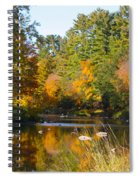 The River Flows Spiral Notebook