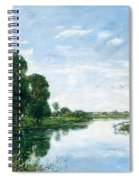 The River Touques At Saint-arnoult Spiral Notebook