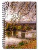 The Riverside At Avenham Park Spiral Notebook