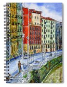 The Riverside Houses At Bilbao La Vieja Spiral Notebook